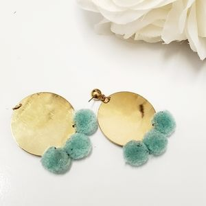Bom bom Disc Earrings